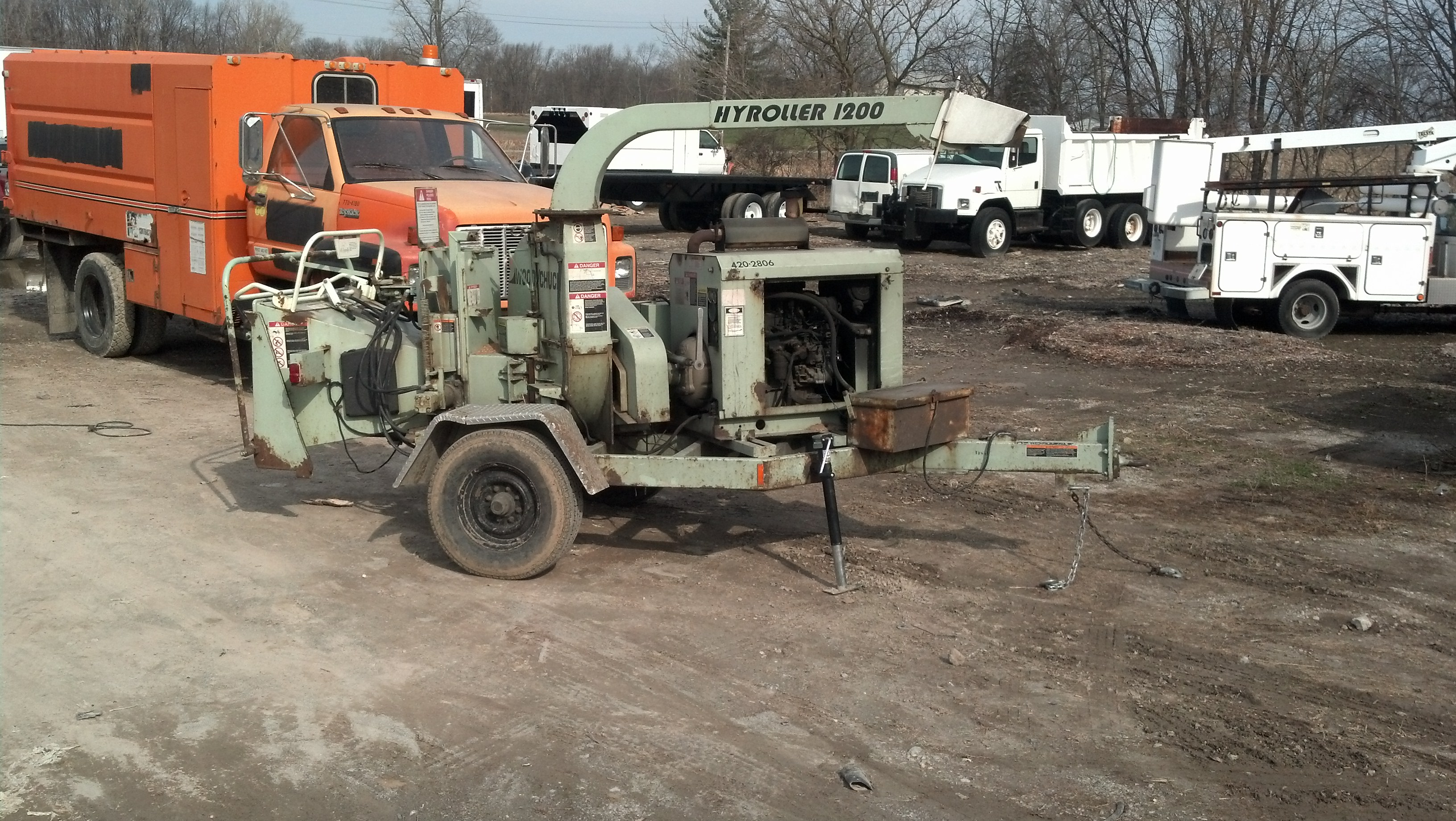 2002 Woodchuck Deutz diesel chipper